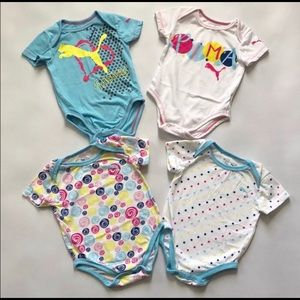 Puma Ice Blue body suits (pack of 4)